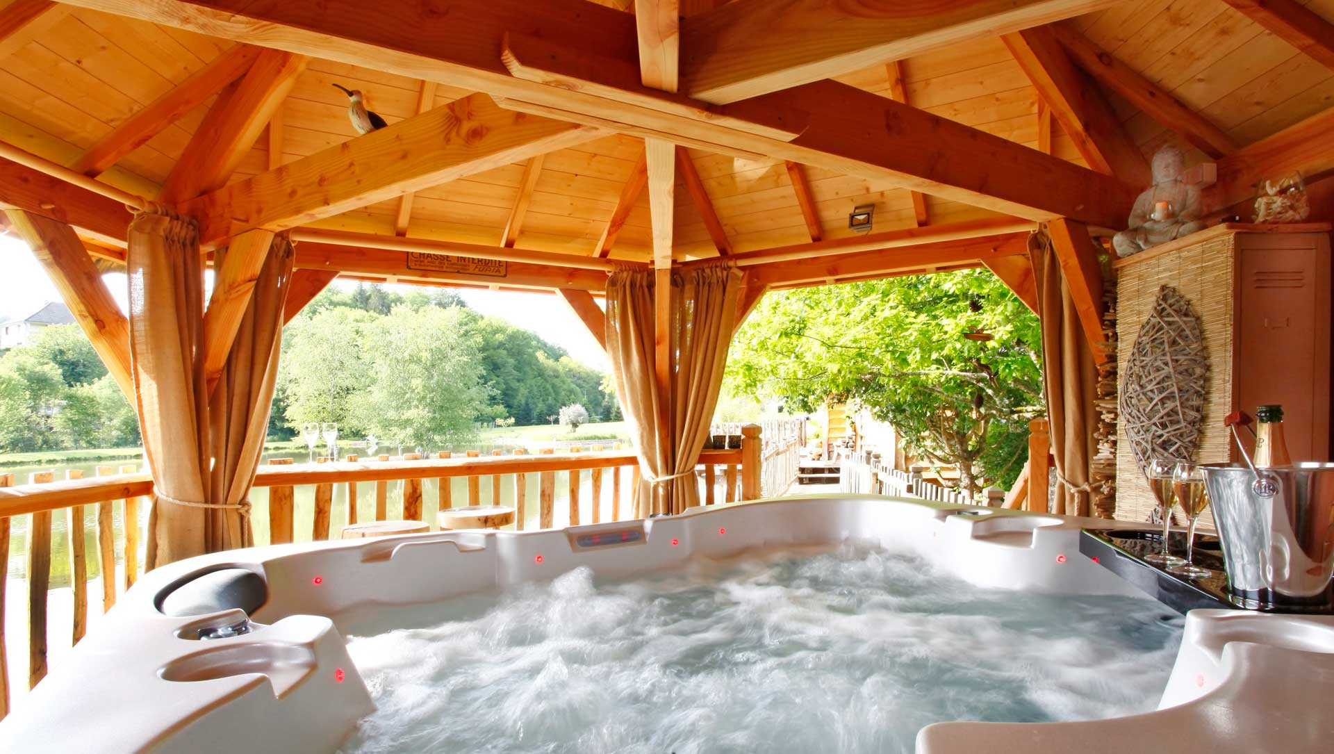 cabane spa luxe